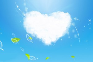 cloud wallpaper green heart
