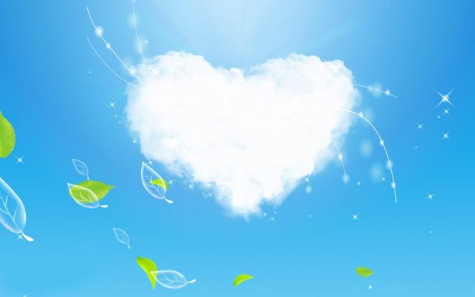 cloud wallpaper green heart