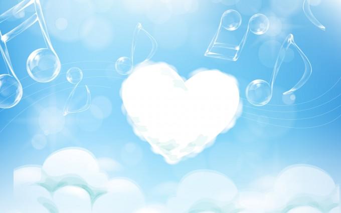 cloud wallpaper heart delightful