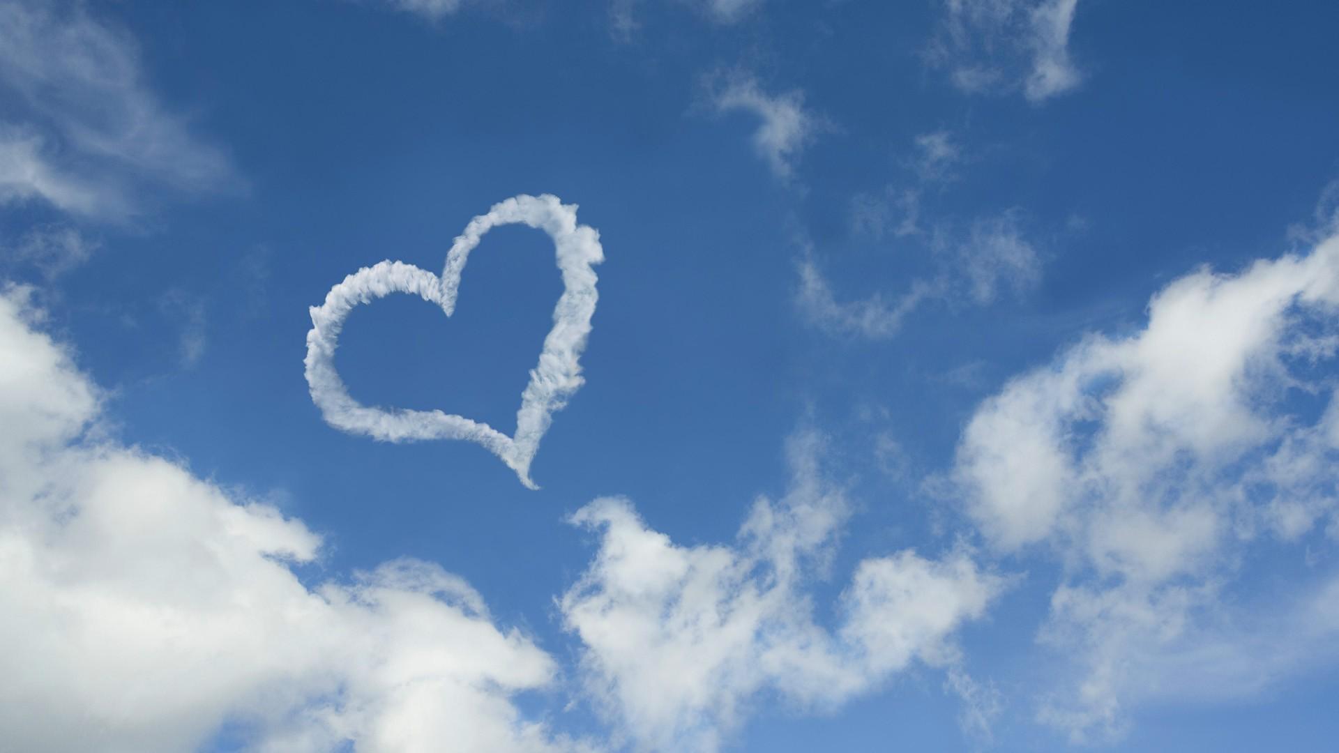 cloud wallpaper heart love