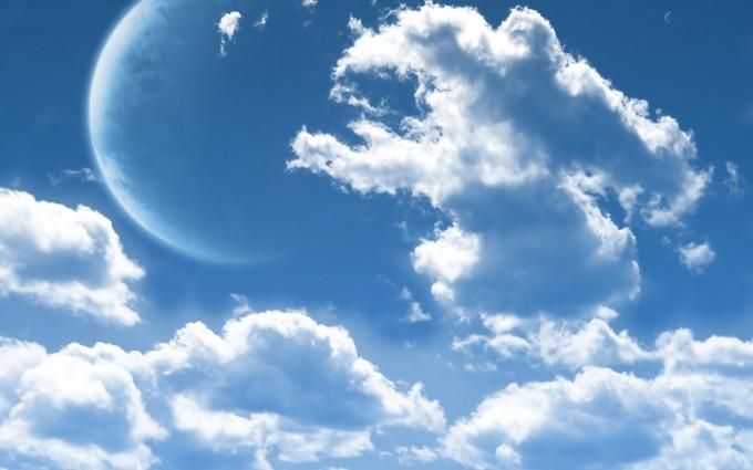 cloud wallpaper moon