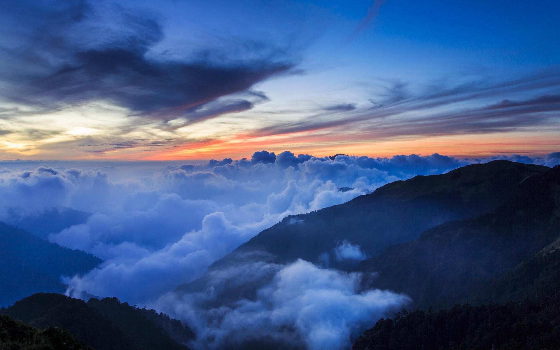cloud wallpaper mountains