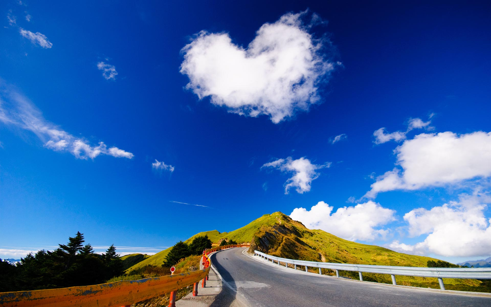cloud wallpaper road heart