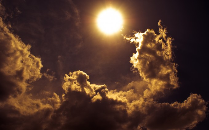 cloud wallpaper sun