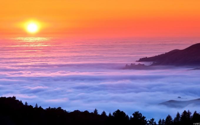 cloud wallpaper sunset