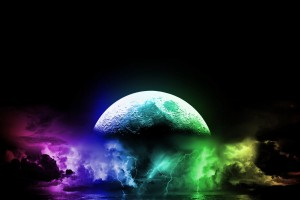 cool wallpapers moon colorful