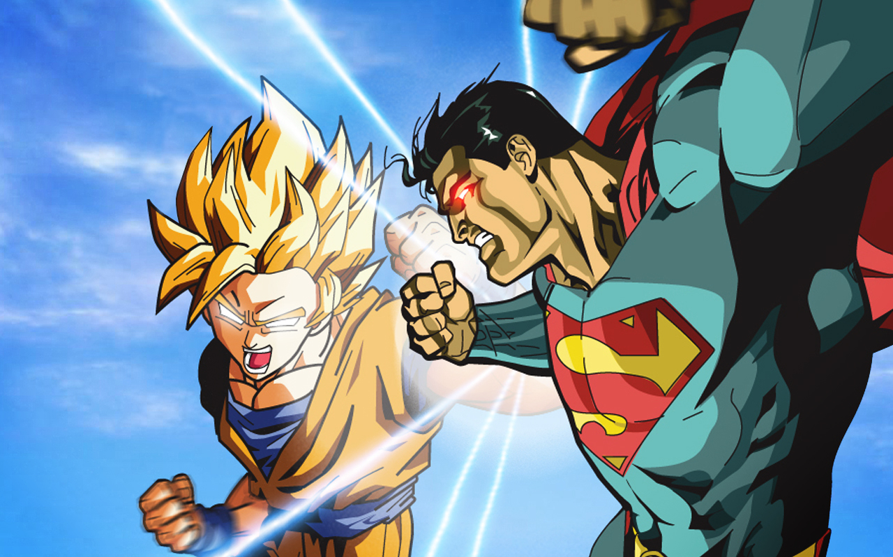 dragon ball z wallpapers superman