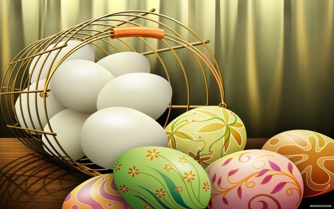 easter wallpapers eggs hd basket