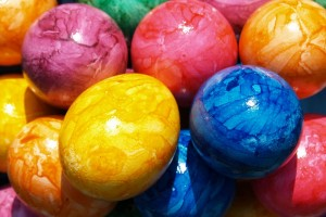 easter wallpapers eggs hd blue