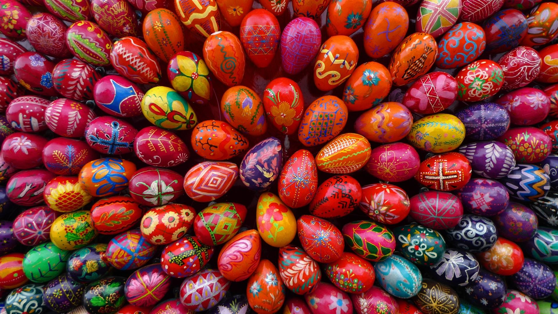 easter wallpapers eggs hd colorful