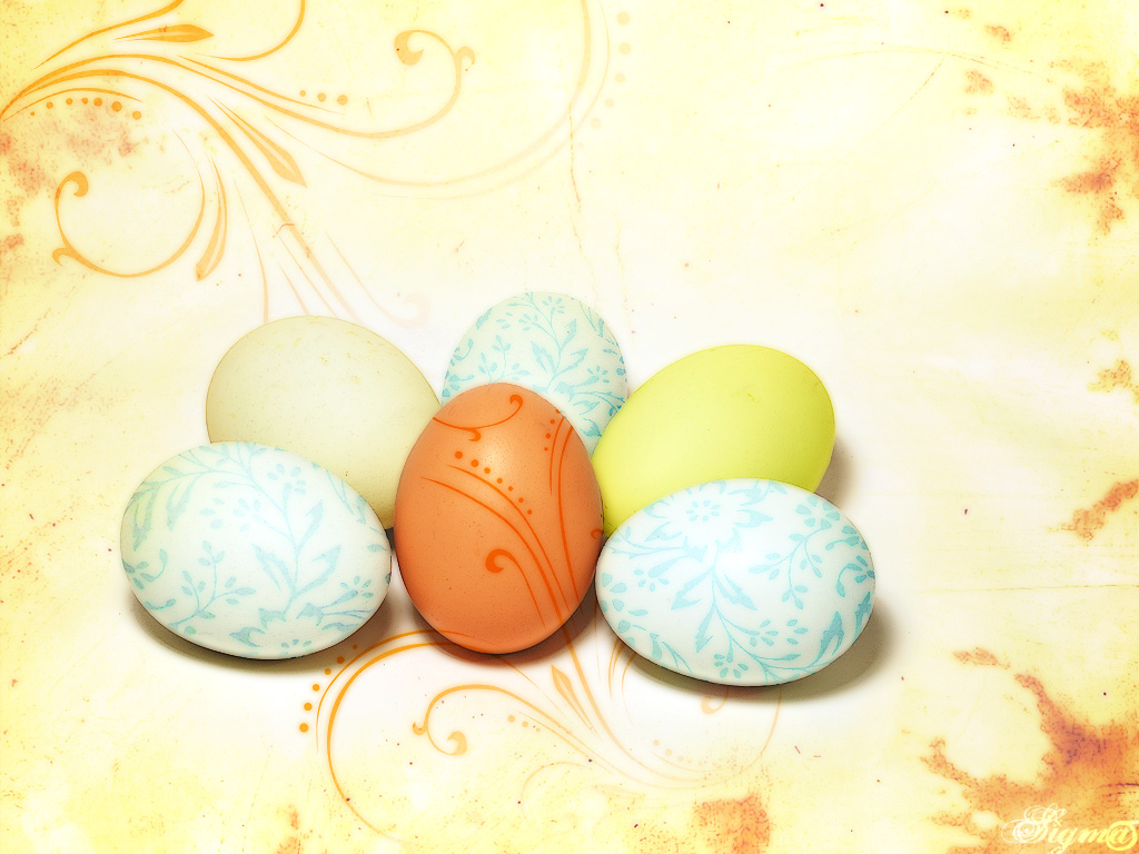 easter wallpapers eggs hd light