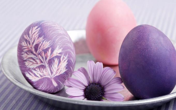 easter wallpapers eggs hd purple