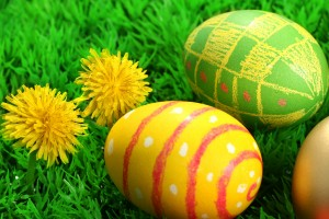 easter wallpapers eggs hd yellow