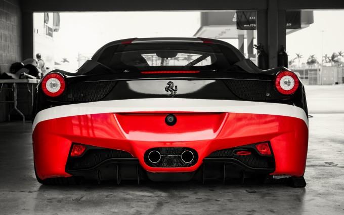 ferrari 458 italia black and red