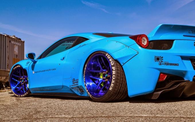 ferrari 458 italia blue racing