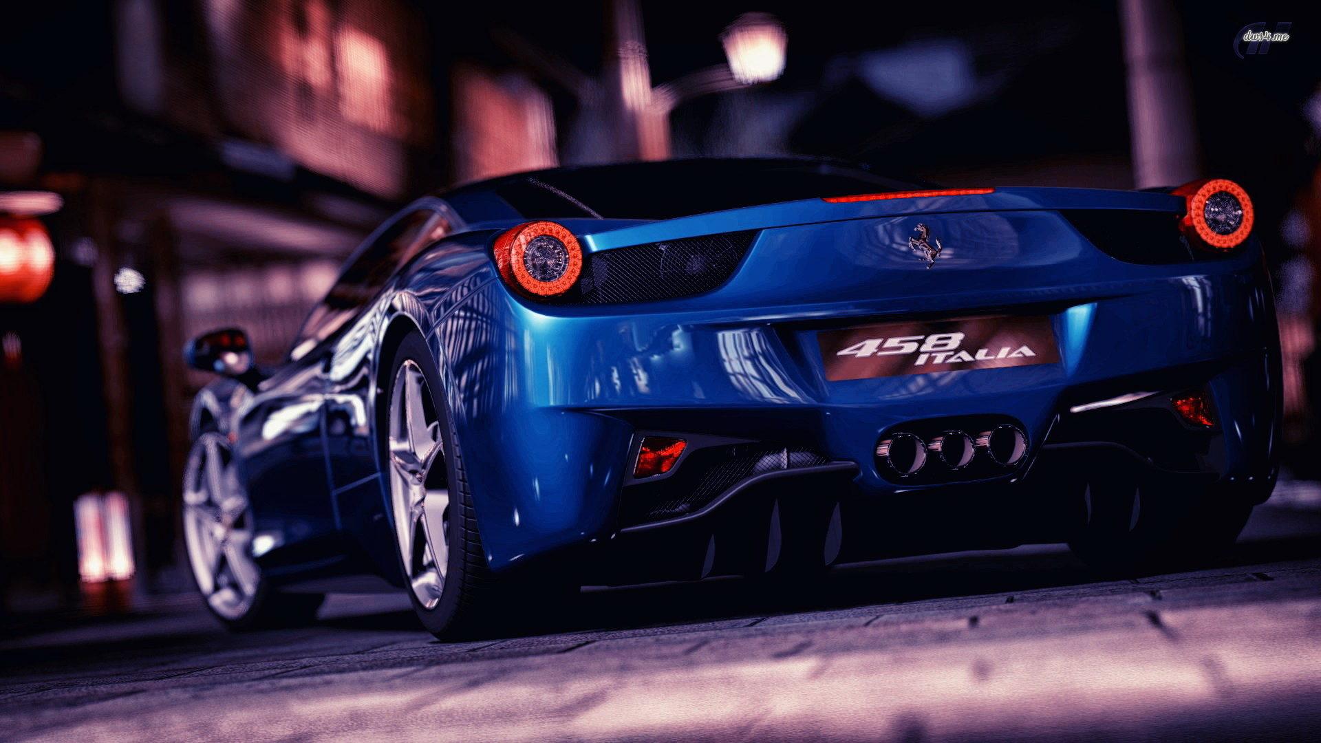 ferrari 458 italia blue