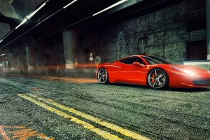 ferrari 458 italia red lights