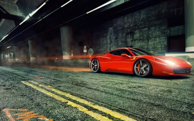 ferrari 458 italia red lights