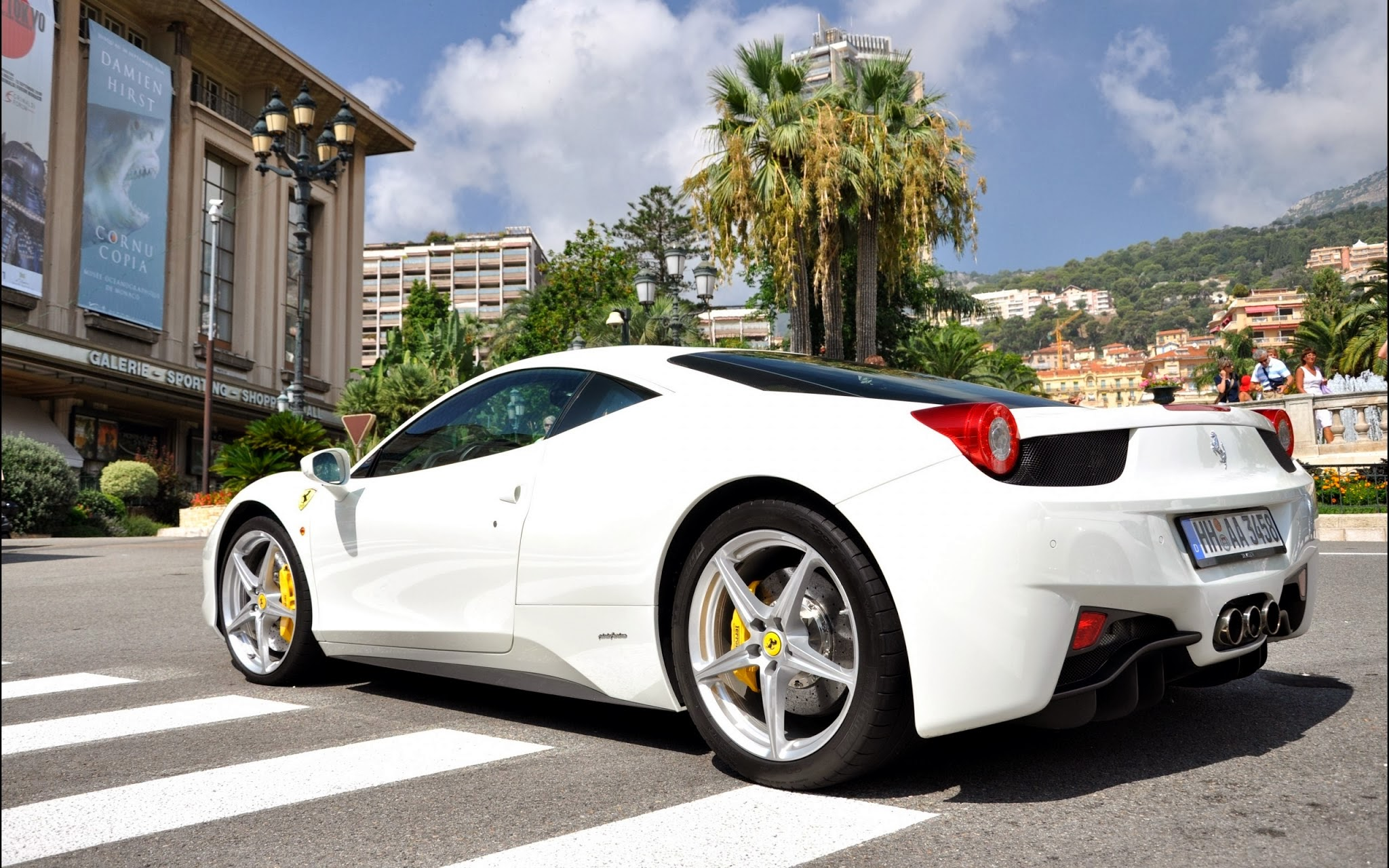 ferrari 458 italia white cool