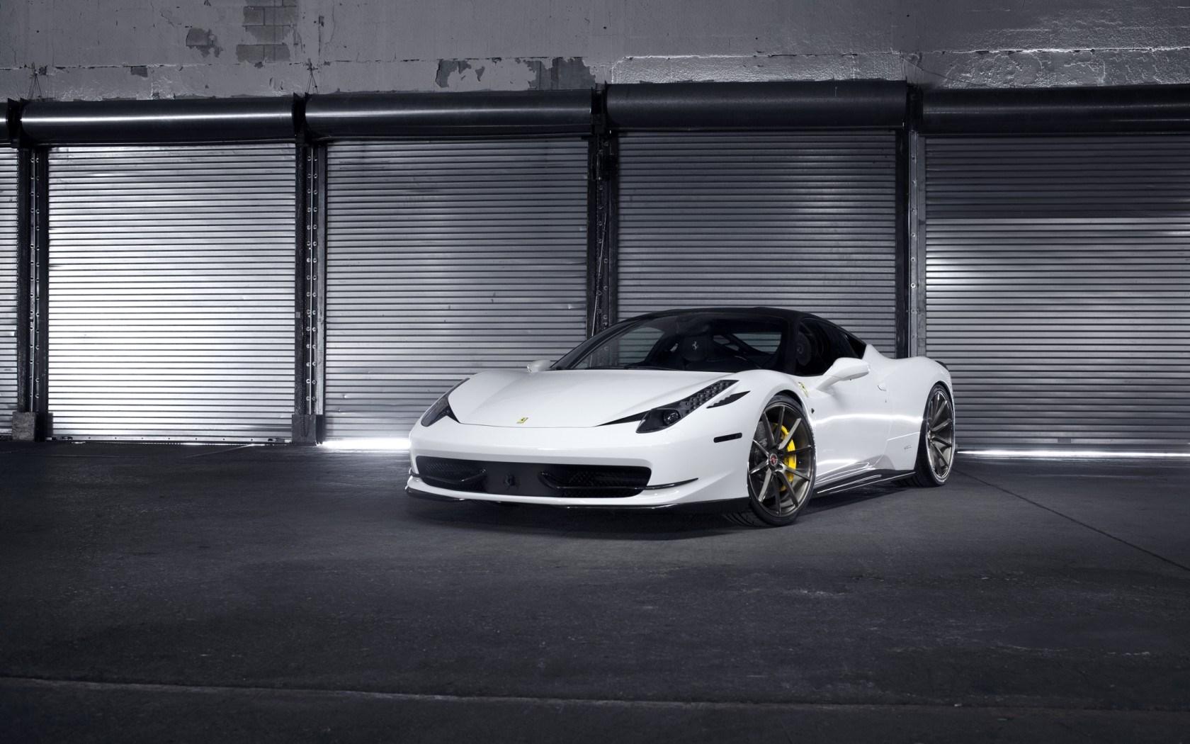 ferrari 458 italia white garage