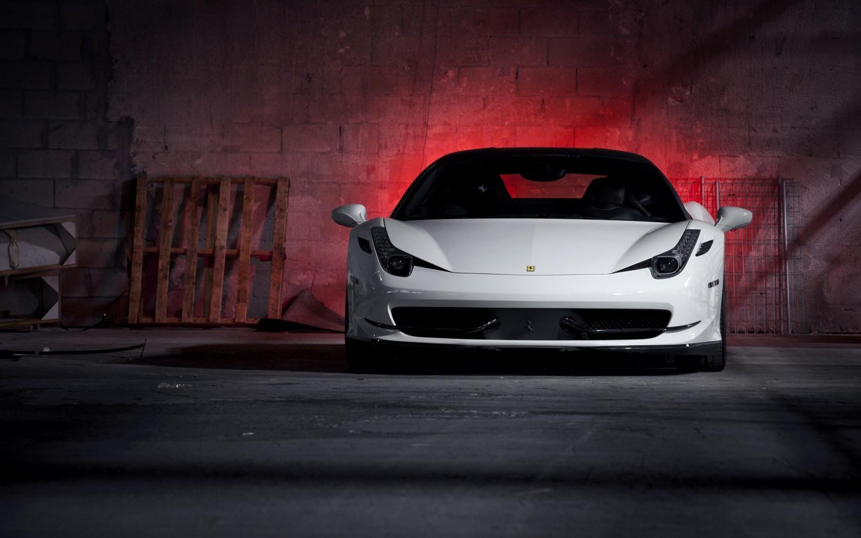 ferrari 458 italia white lights