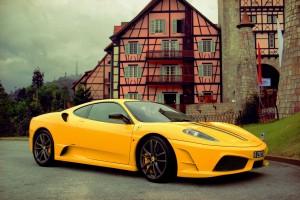 ferrari 458 italia yellow vintage