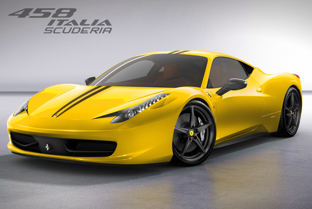 Ferrari 458 Scuderia Yellow Hd Desktop Wallpapers 4k Hd