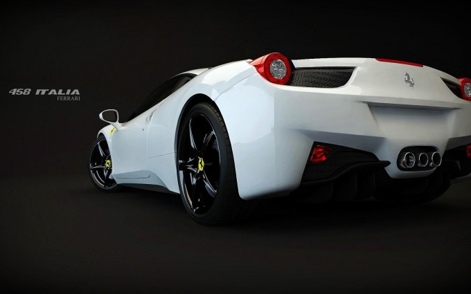 ferrari 458 white wallpaper HD