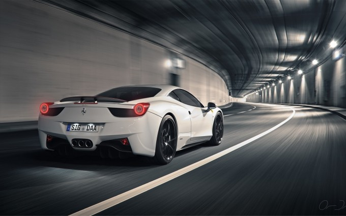 ferrari 458 white wallpaper desktop