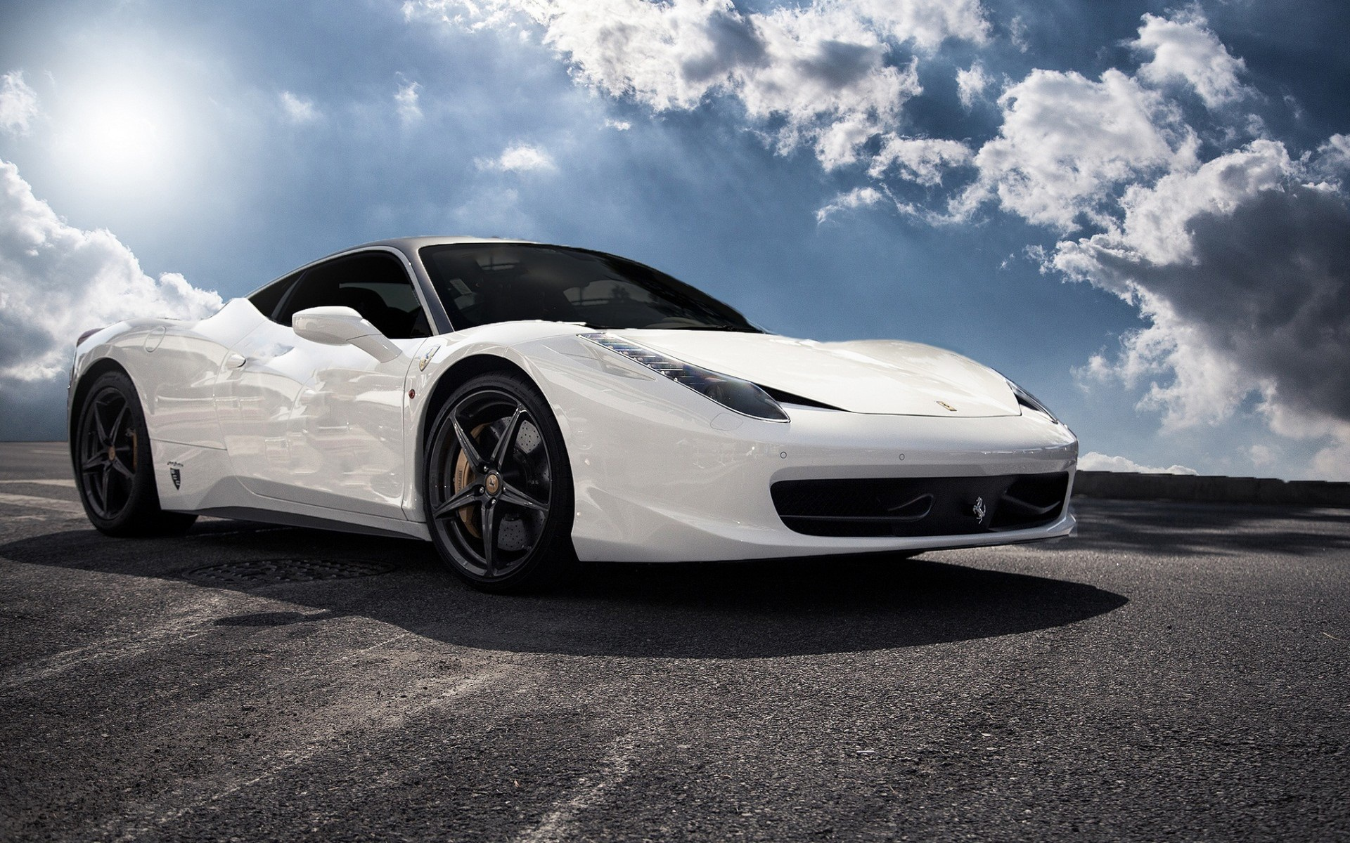 ferrari 458 white wallpaper mobile