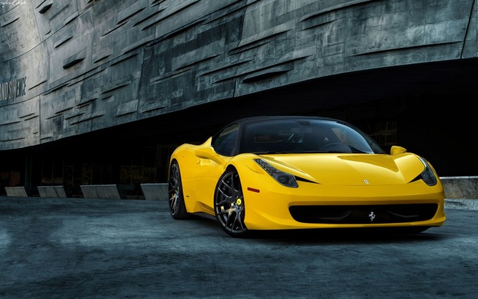 ferrari 458 yellow wallpaper