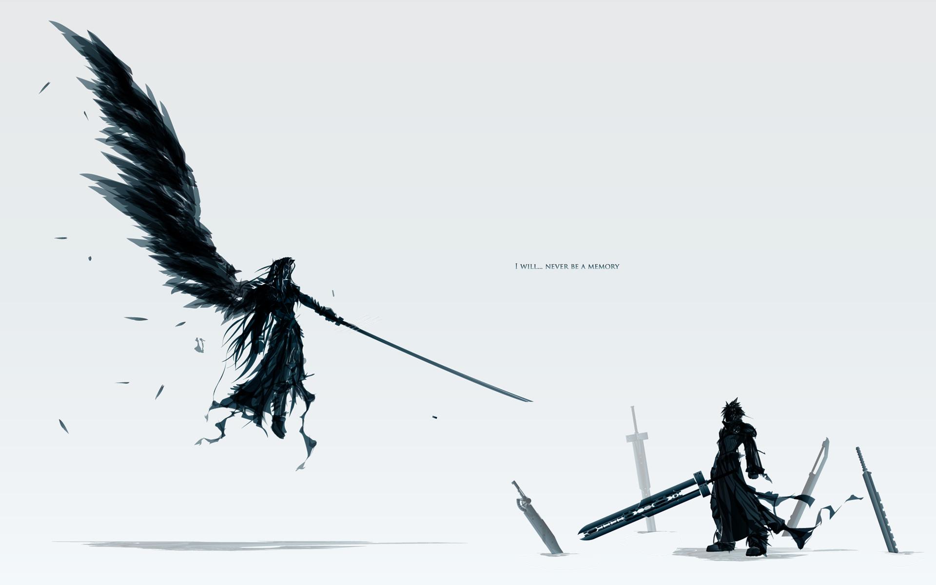 final fantasy wallpaper wings black