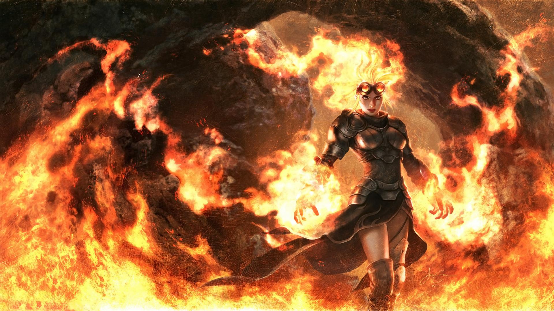fire wallpaper anime