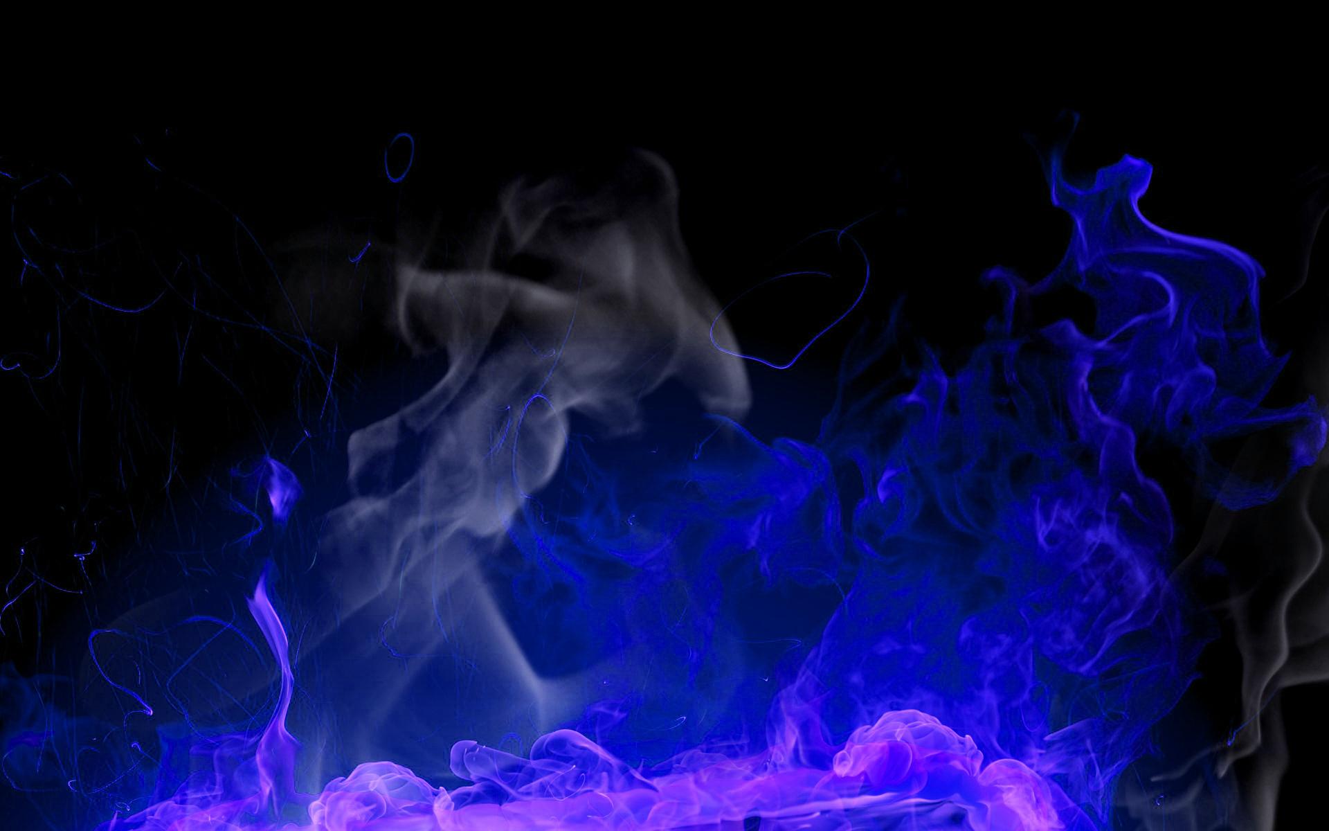 fire wallpaper blue