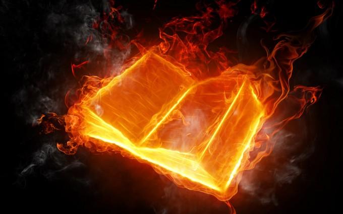 fire wallpaper book