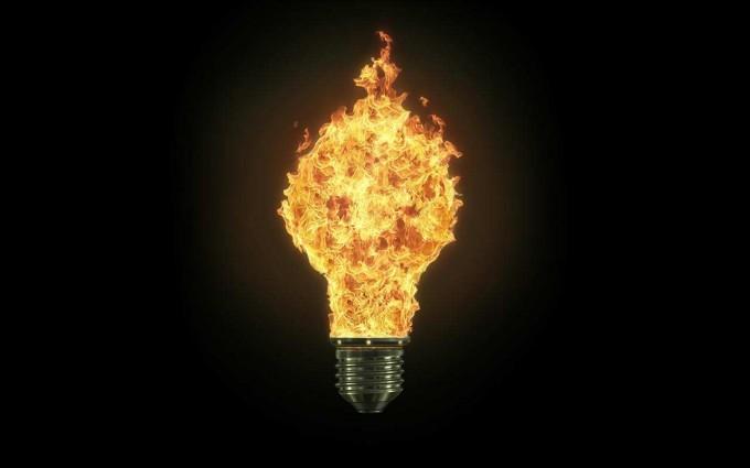 fire wallpaper bulb flames