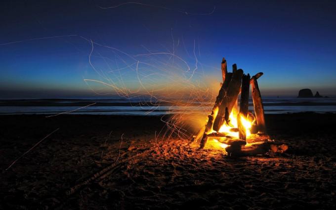 fire wallpaper camp fire
