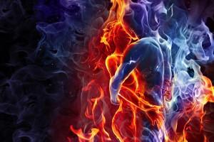 fire wallpaper couple love
