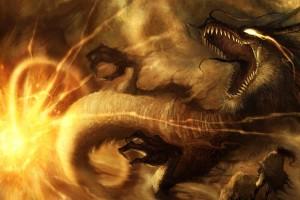 fire wallpaper dragon