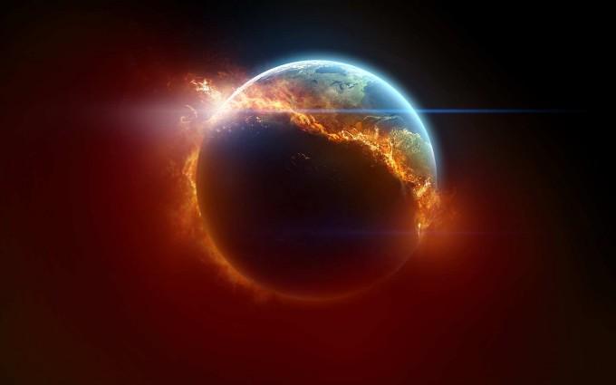 fire wallpaper earth