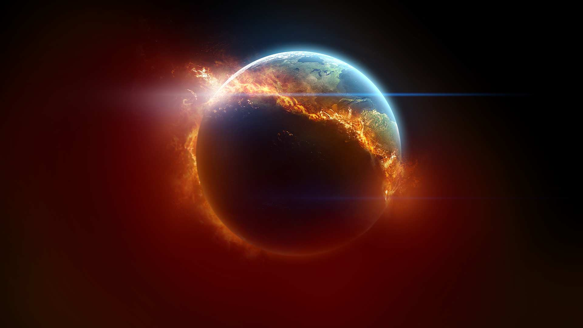 fire wallpaper earth