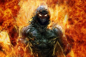 fire wallpaper evil