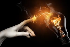 fire wallpaper hand bulb