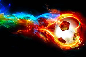 fire wallpaper soccer ball