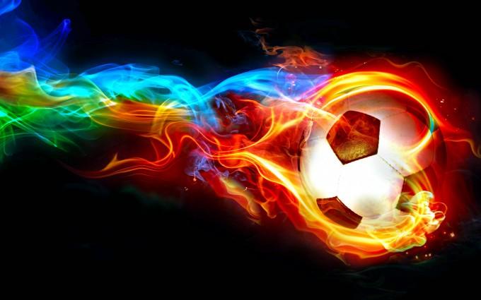 fire wallpaper soccer ball