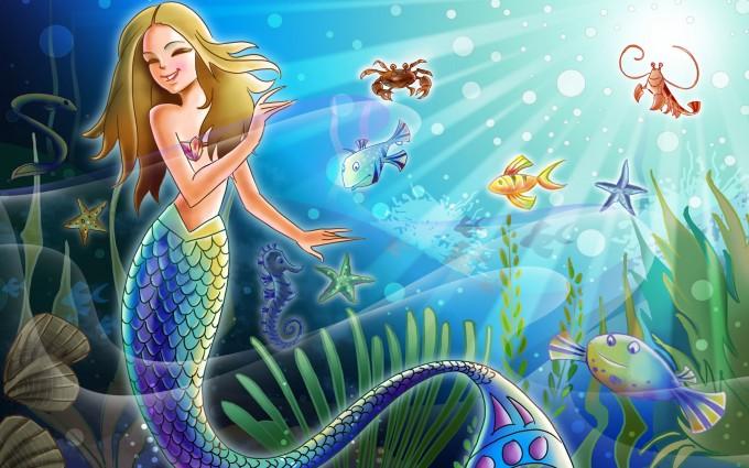 fish wallpaper mermaid