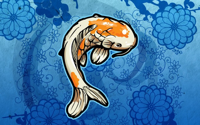 fish wallpaper orange
