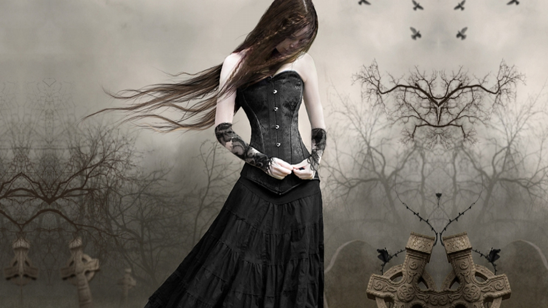 gothic girls wallpaper
