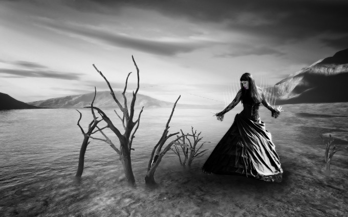 gothic wallpaper black and white