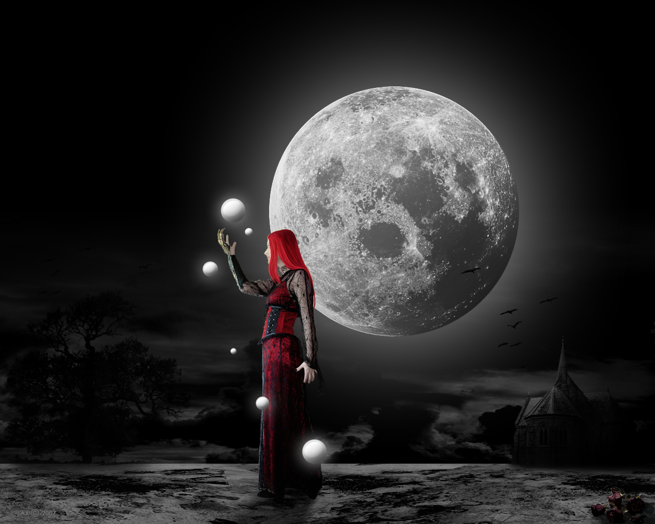 gothic wallpaper moon